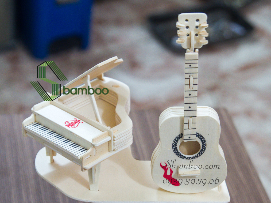 Bộ lắp ghép gỗ - Đàn Guitar & Piano