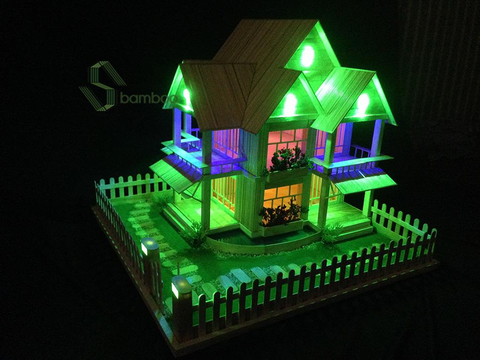 Nhà tăm tre đẹp NO.8
