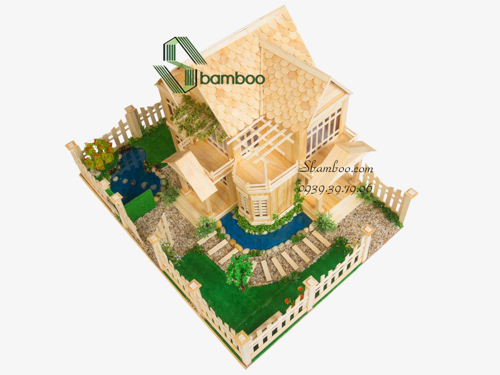 KIT & Bản vẽ mô hình nhà tăm tre MH03