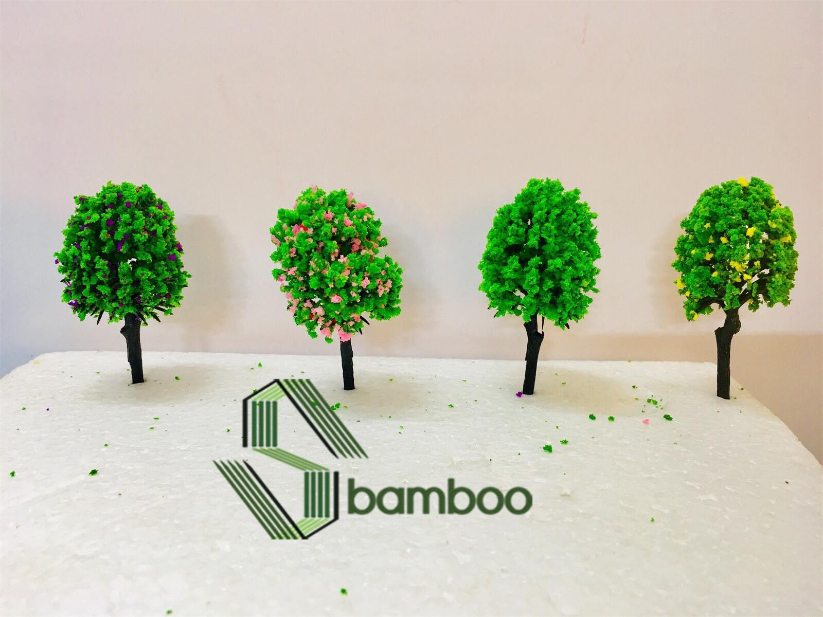 Combo 5 Cây nhựa mô hình Sbamboo 7cm - MÀU NGÃU NHIÊN