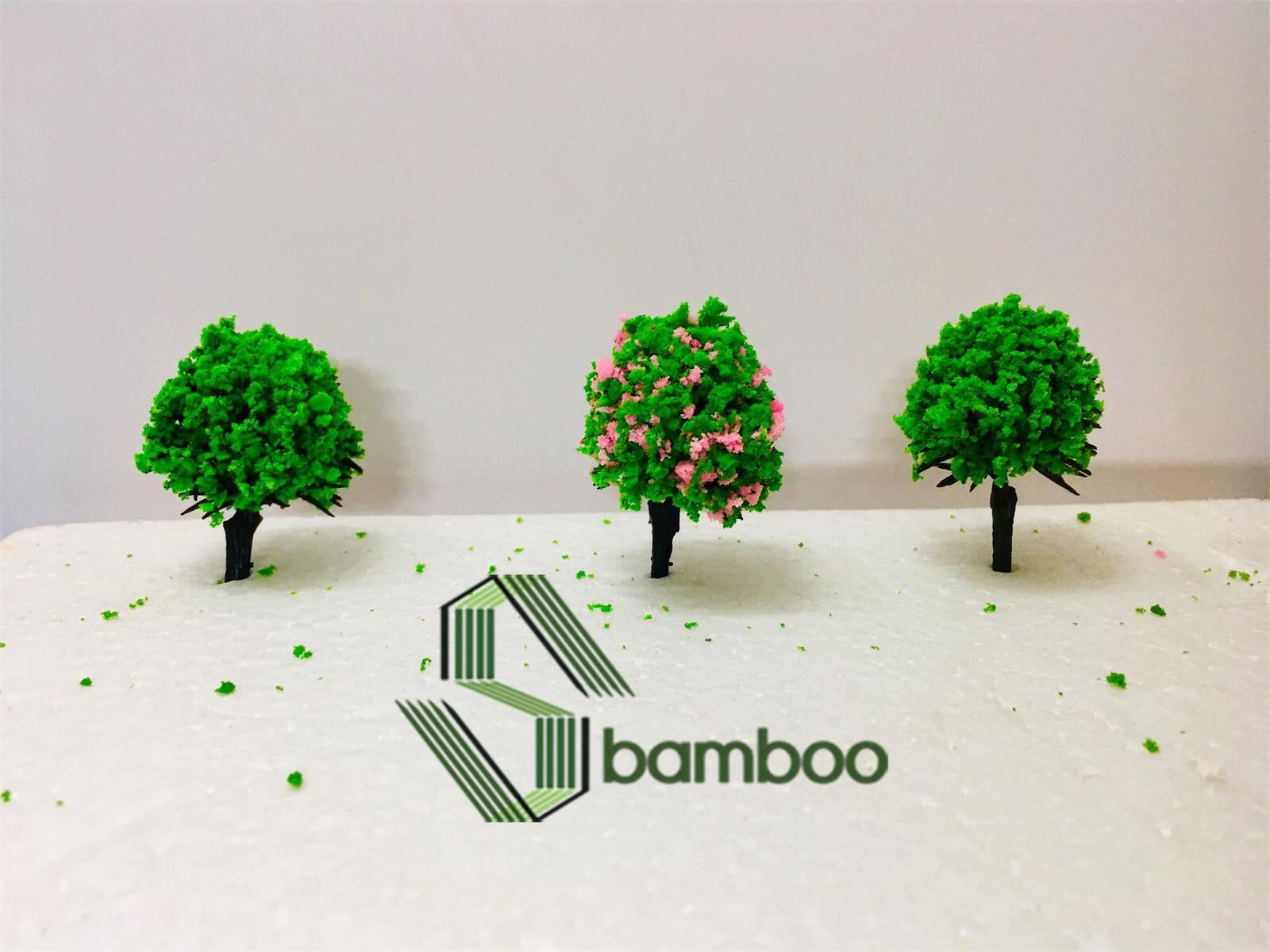 Combo 5 plastic trees model 5cm - Random color