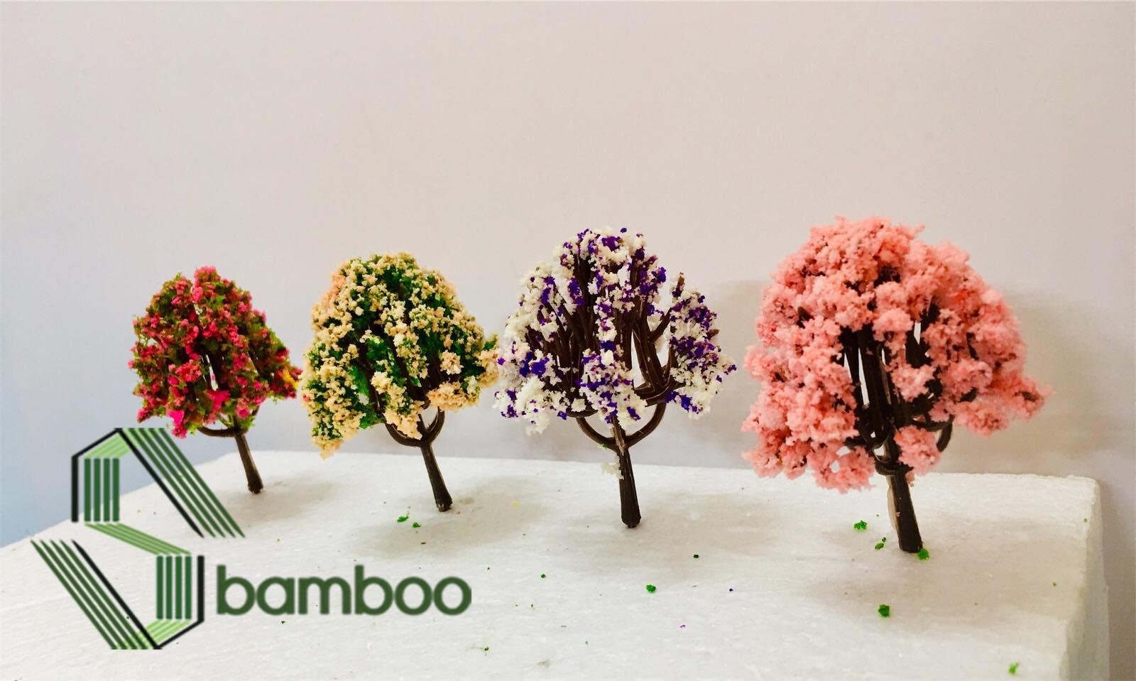 Combo 2 Cây nhựa mô hình Sbamboo 6 cm - MÀU NGÃU NHIÊN