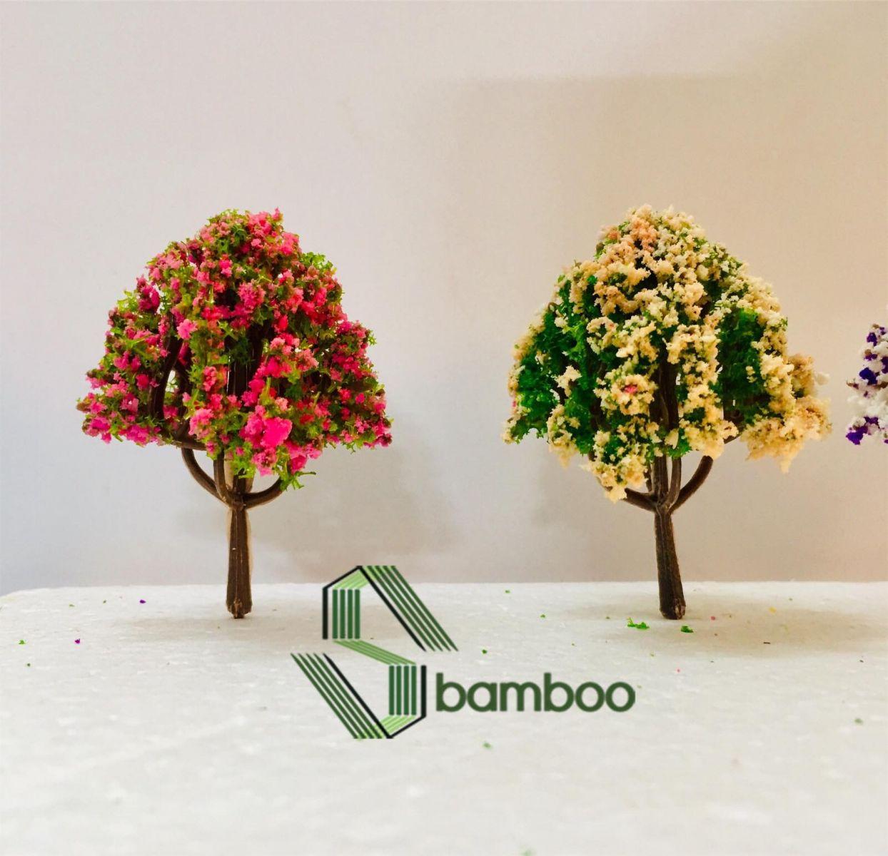 Cây nhựa mô hình Sbamboo 6 cm - MÀU NGÃU NHIÊN