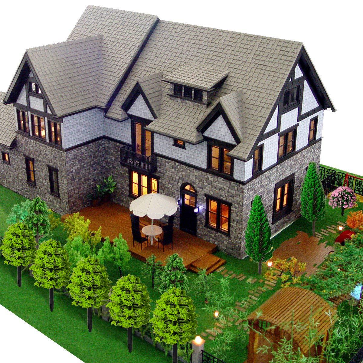 Cây mô hình kiến trúc trang trí tiểu cảnh, sa bàn Sbamboo