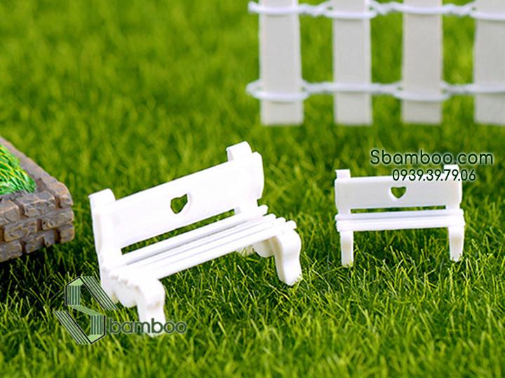 Ghế mô hình trang trí công viên, tiểu cảnh Sbamboo - Ghế lớn