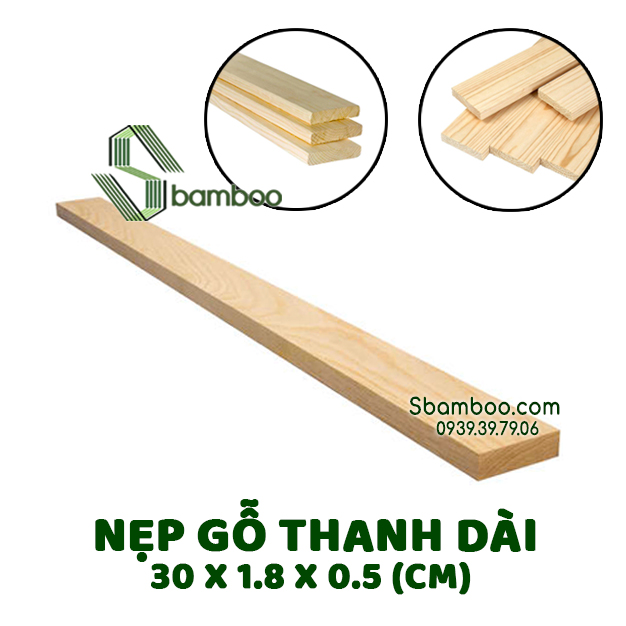 COMBO 5 WOODEN SPLINTS 30CM SBAMBOO