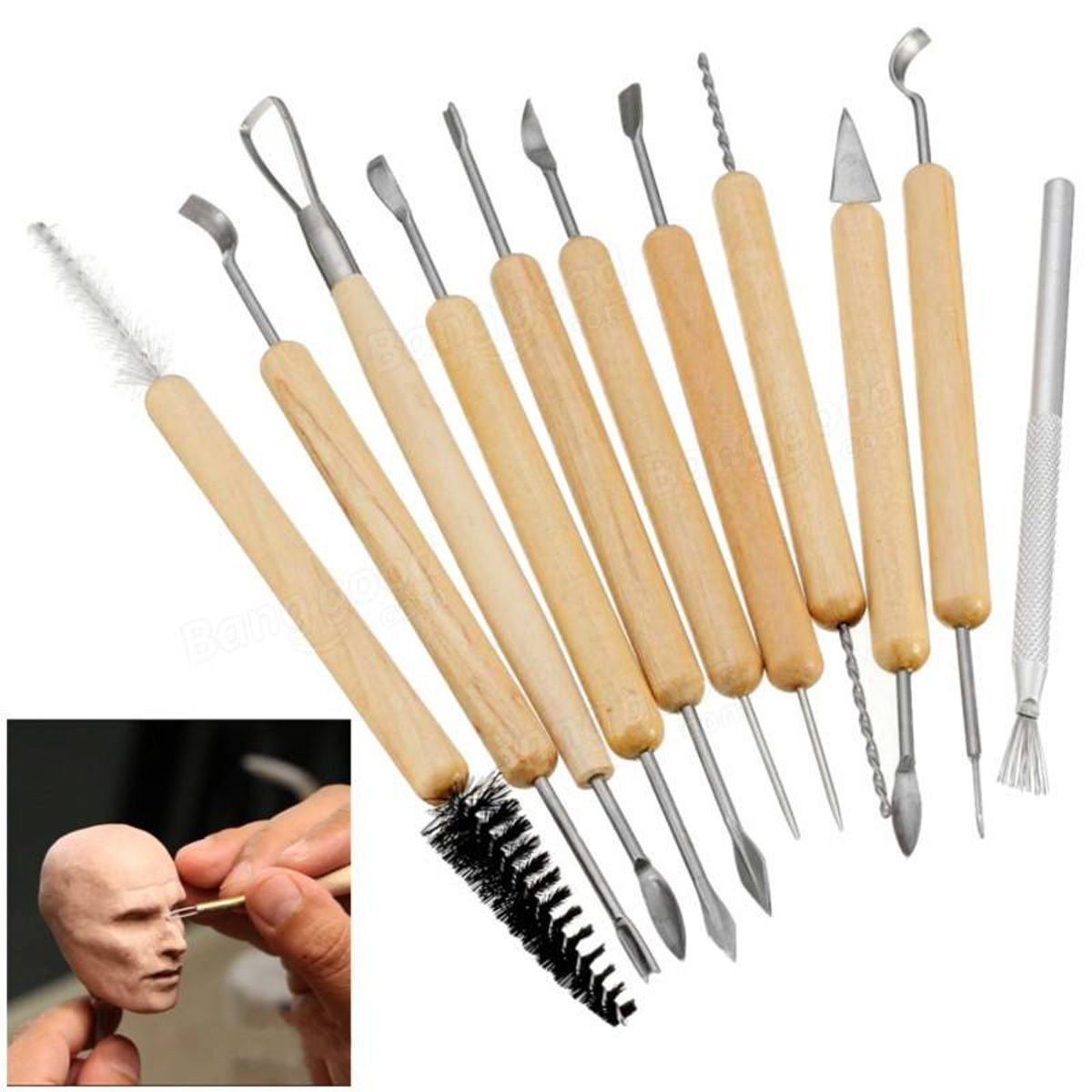 CLAY TOOLS SET 11 PIECES - MULTI-PURPOSE TOOLS FOR SHAPING AND SCULPTING