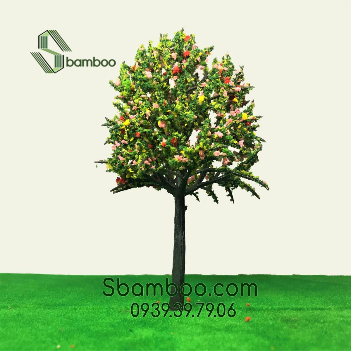 PLASTIC TREE WITH WIDE CANOPY SBAMBOO 14CM