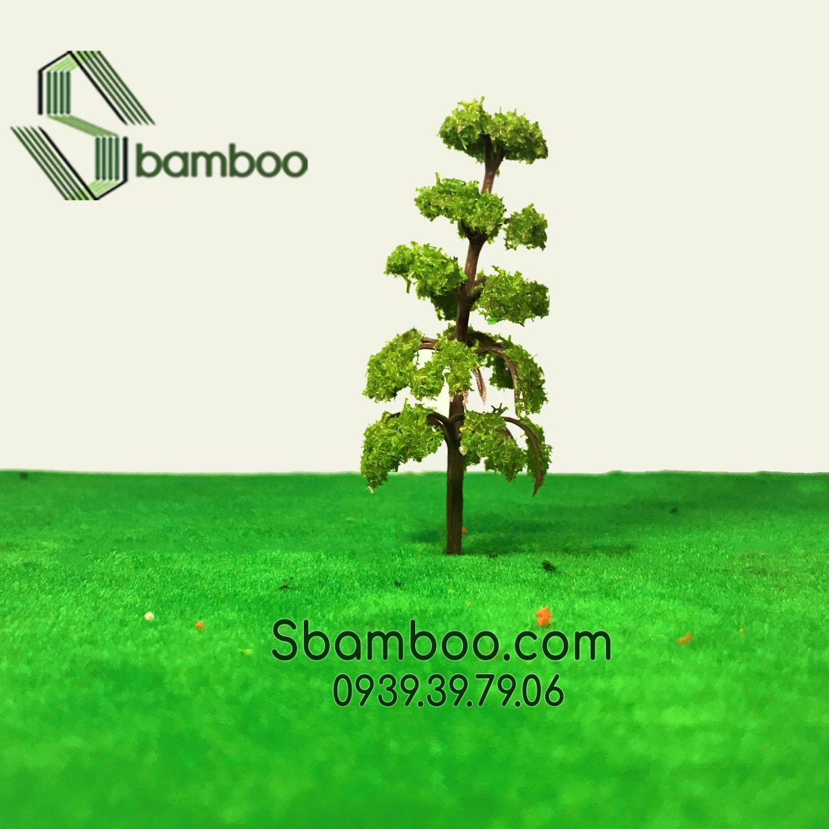 PLASTIC TREE PARK MODEL 02 SBAMBOO 7CM