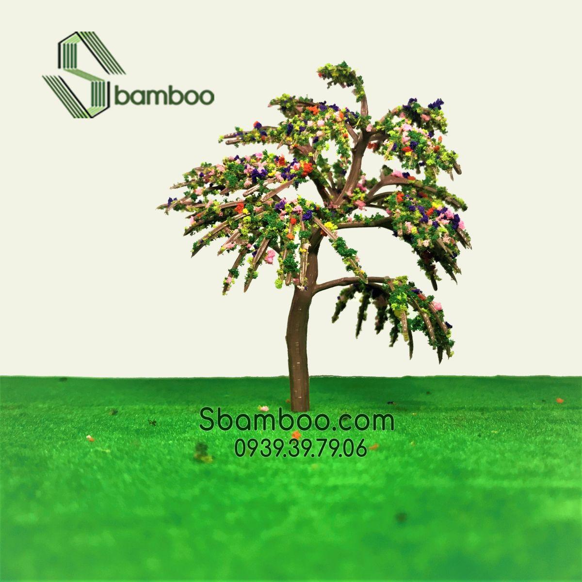 Cây nhựa mô hình công viên 03 Sbamboo 10cm