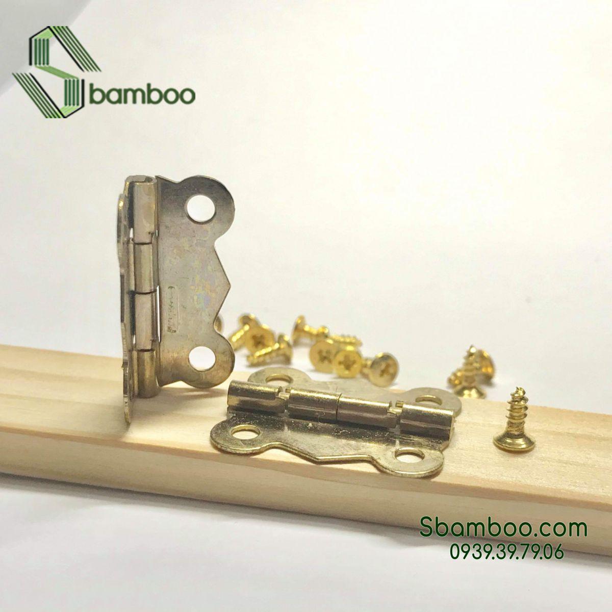Bản lề giả cổ mini M02 (kèm ốc vít) - 50 cái