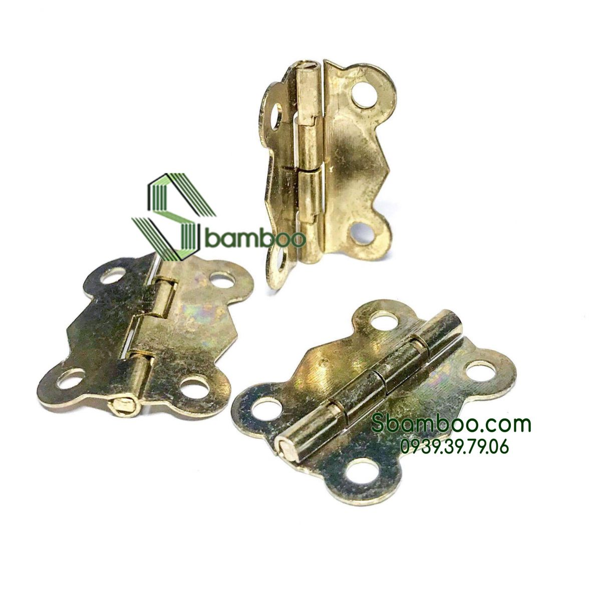 50 mini hinges classical color M02 (included screws)