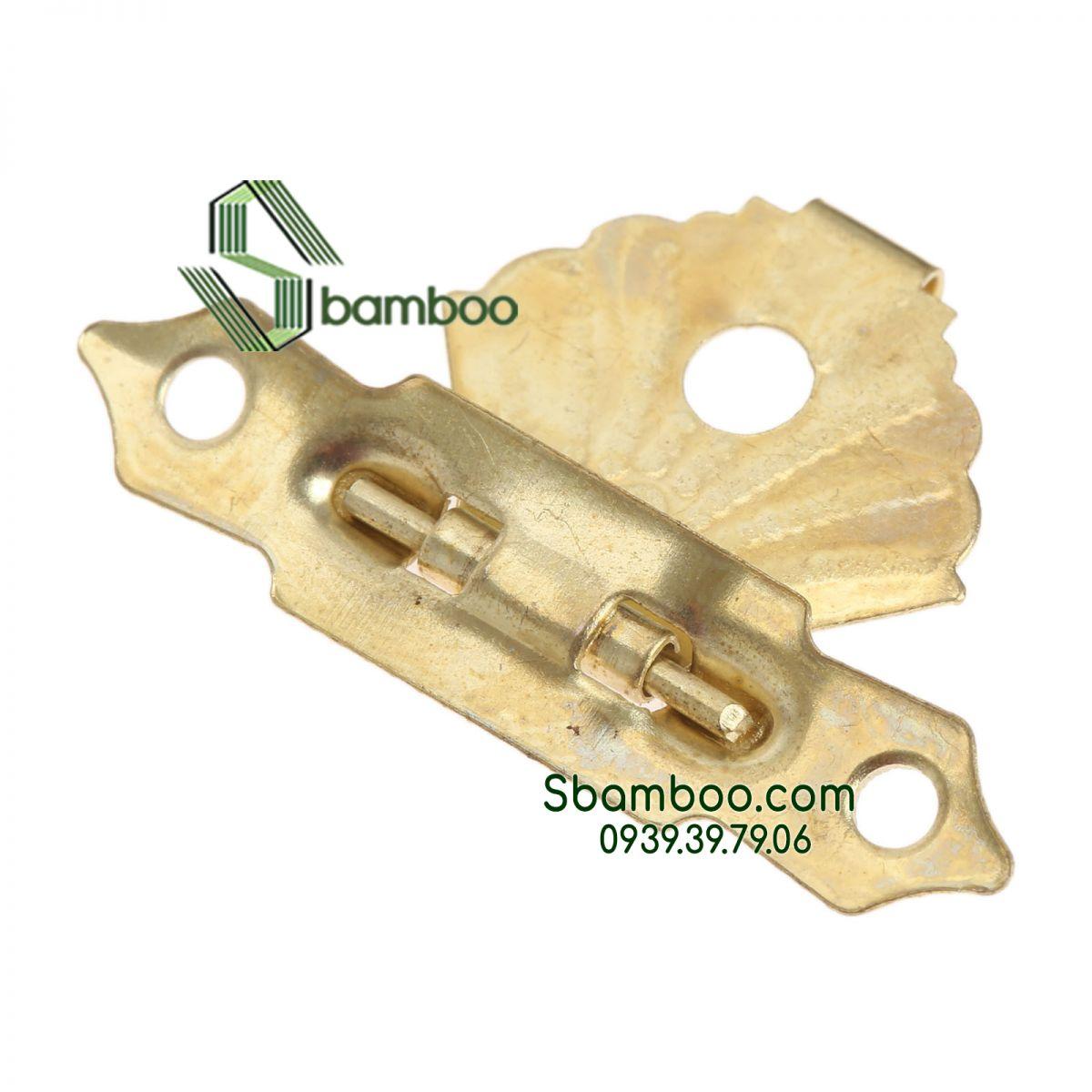 Khóa yếm vàng - kèm ốc vít Sbamboo