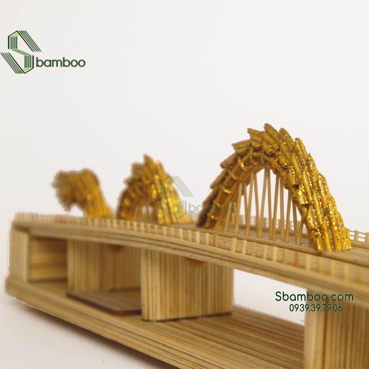 Mô hình tăm tre Cầu Rồng Đà Nẵng Sbamboo
