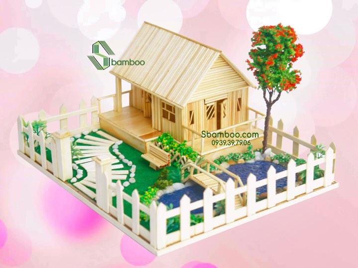 Nhà tăm tre đẹp - Quà tặng thủ công Sbamboo