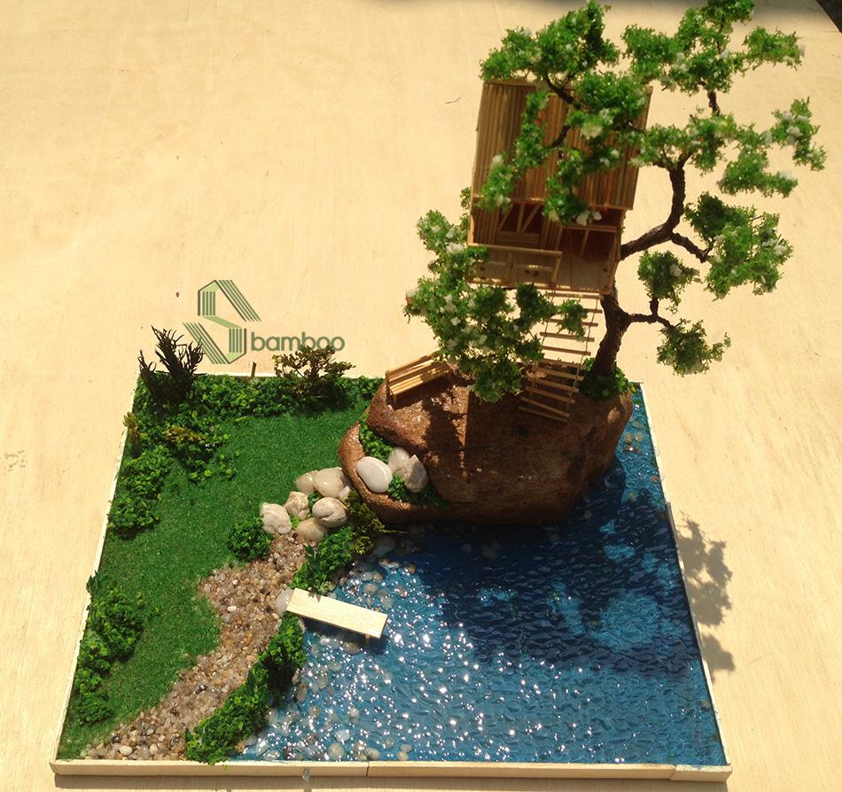 Nhà tăm tre trên cây